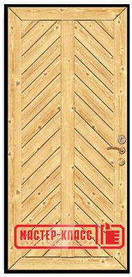 Металлические двери отделка вагонкой